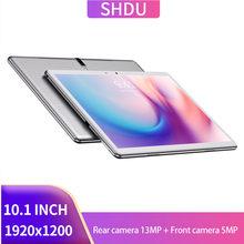 Novo 13mp tablet pc 10.1 polegada android 10.0 comprimidos 64gb rom octa núcleo google play 3g 4g lte chamada de telefone gps wifi bluetooth 10 polegada