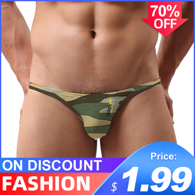 CMENIN Camouflage Ins Style Sexy Underwear Men Jockstrap Briefs Cotton Gay Men Bikini Underware Sexi Cueca Male Panties Briefs