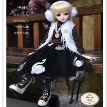Модная Кукла 60 см bjd make up 18 подвижных суставов diy куклы