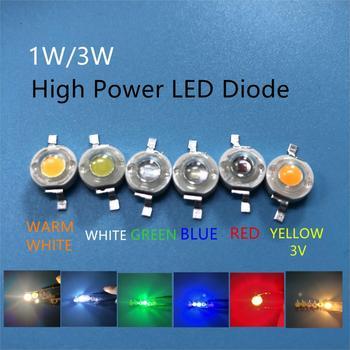 Светодиодный светильник высокой мощности, 10 шт., 1 Вт, 3 Вт, диоды SMD 110-120LM, светодиодный чип s для 3 Вт-18 Вт, точечный светильник, светильник, тепл...