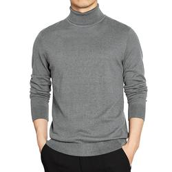 4XL Turn-down Collar Sweater Pullover Men Winter Turtleneck SlimSweaters Simple Style Male Knitted Tshirts Man Clothes Plus Size