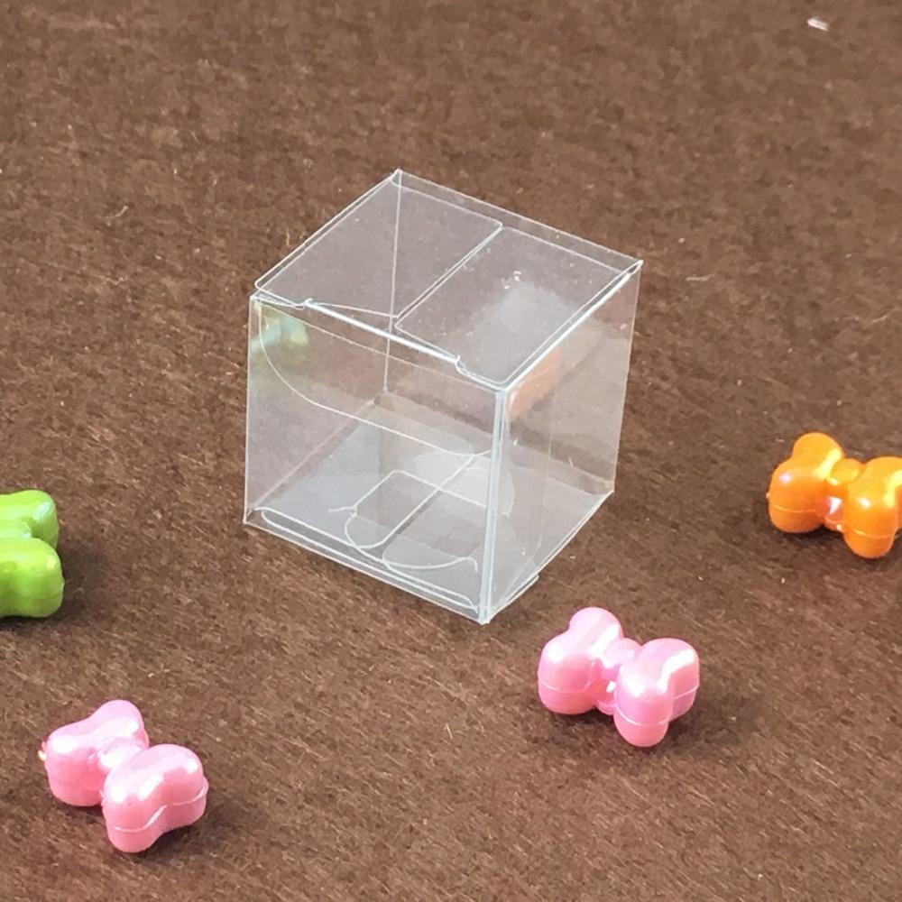 30 pièces 14*14*14cm simple clair mariage PVC boîte cadeau artisanat boîte d'affichage petit bijoux porte-emballage boîtes en plastique Transparent