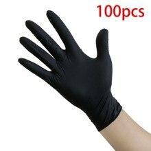 Latex Gloves Rubber Disposable 100pc Garden-Gloves-Accessories Kitchen-Work Blue Dishwashing