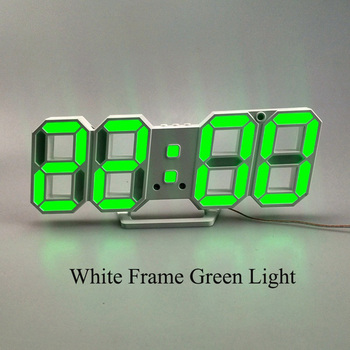 3D LED Wall Clock Modern Design Digital Table Clock Alarm Nightlight Saat reloj de pared Watch For Home Living Room Decoration 18
