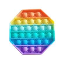 Arco-íris empurrar bolha fidget brinquedo sensorial autismo necessidades especiais pops fidget espremer engraçado anti stress reliever descompressão brinquedos