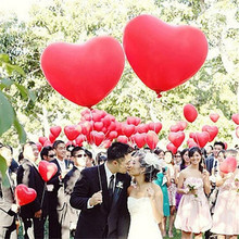10Pcs/Lot Wedding Balloons 36inch Helium Heart Love Big Latex Balloon Large Giant Ball birthday party decorations kids Supplies