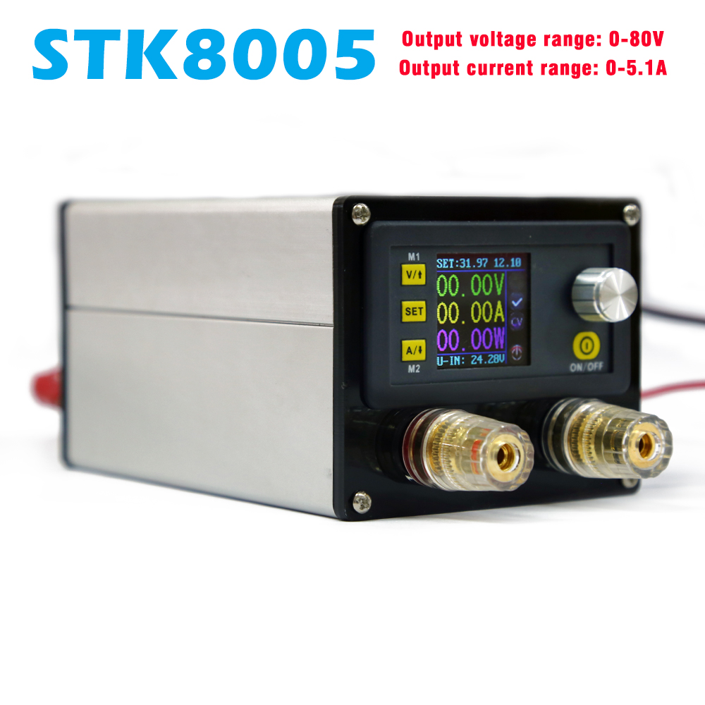 STK8005 Programmable Constant Voltage Current Step-down Power Supply Module Voltmeter Ammeter Buck Converter 80V 5A