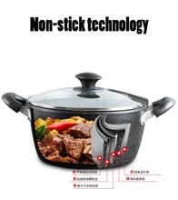 Maifan stone soup pot binaural non-stick pan household thickening saucepan universal small milk pan недорого