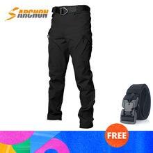 Мужские военные тактические брюки карго sarchon ix9 армейские