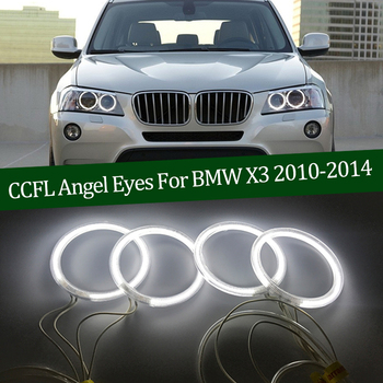 Hight Quality CCFL Angel Eyes Kit Warm White Halo Ring For BMW X3 F25 2010 2011 2012 2013 2014 xenon headlight Demon Eye image