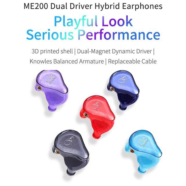 Shanling ME200 Hi-Res Hybrid Driver(Dual Dynamic+Knowles BA) In-ear Earphone with Furukawa MMCX Cable DLP 3D Printed shell 2