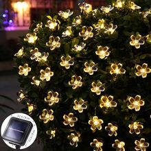 50 светодиодный садовый светильник на солнечной батарее светодиодная