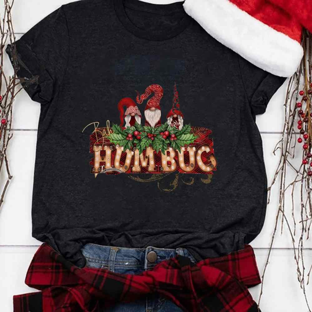 2020夏の女性のtシャツ新デザインおかしいエルフプリントoネックtシャツプラスサイズ3XL tシャツトップスtシャツmujerクリスマス服