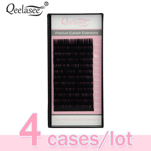 Image 1 - 4 Cases 0.07 Russian Volume Eyelash Extension Individual Lashes Extention Mixed Lengths for Artist Training