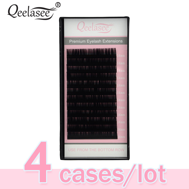 4 Cases 0.07 Russian Volume Eyelash Extension Individual Lashes Extention Mixed Lengths for Artist Training