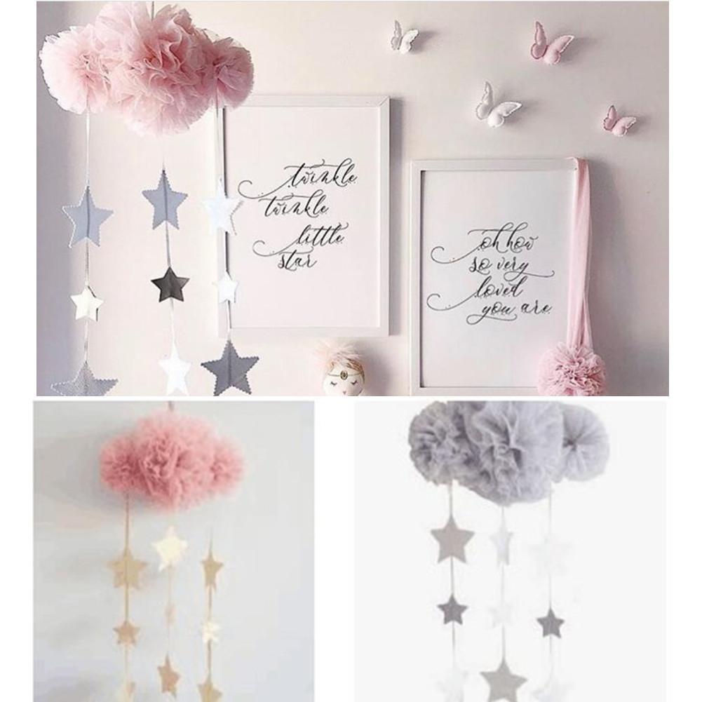 None Fantasy Mesh Cloud Children's Room Ornaments