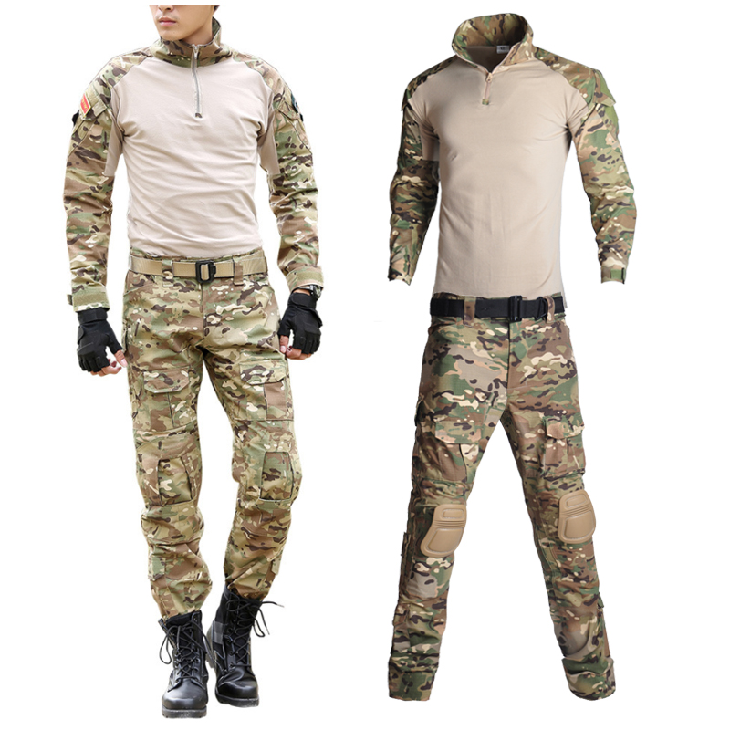 Outdoor Men Airsoft Paintball Clothing Military Shooting Uniform Tactical Combat Camouflage Shirts Men Pants Army Germen Uniform