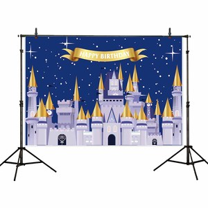 Image 4 - Allenjoy Golden Castle Princess Backdrop Pumpkin Carriage Flower Birthday Background Photo Zone Photoshoot Prop Banner