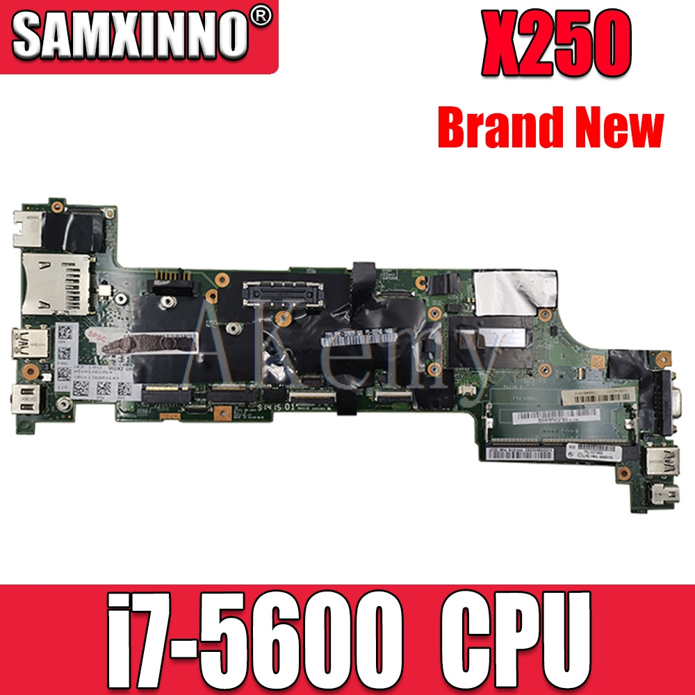 For Lenovo Thinkpad X250 Notebook Motherboard VIUX1 NM-A091 CPU <font><b>i7</b></font> <font><b>5600U</b></font> 100% test work FRU 00HT376 00HT383 00HT372 00HT387 image
