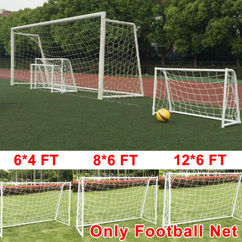 Full Size Football Net for Soccer Ball Goal Post Junior Sports Training Nets Outdoor Team Sport Games Football Accessories folding mini football soccer ball goal post net set pump kids sport indoor outdoor games toys child birthday gift plastic
