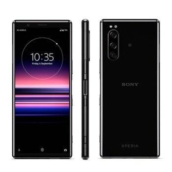 Перейти на Алиэкспресс и купить Новый Смартфон Sony Xperia 5 J9210 с 6,1-дюймовым дисплеем, восьмиядерным процессором Snapdragon 855, ОЗУ 6 ГБ, ПЗУ 128 ГБ, Android 9