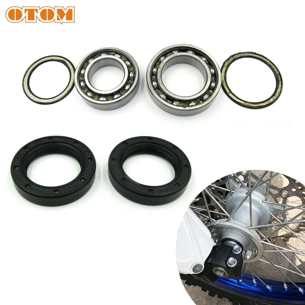 OTOM Motorcycle Front Wheel Hub Oil Seal Bearing Set For YAMAHA WR250F WR426F WR450F YZ125 YZ250F YZ400F Motocross Accessories