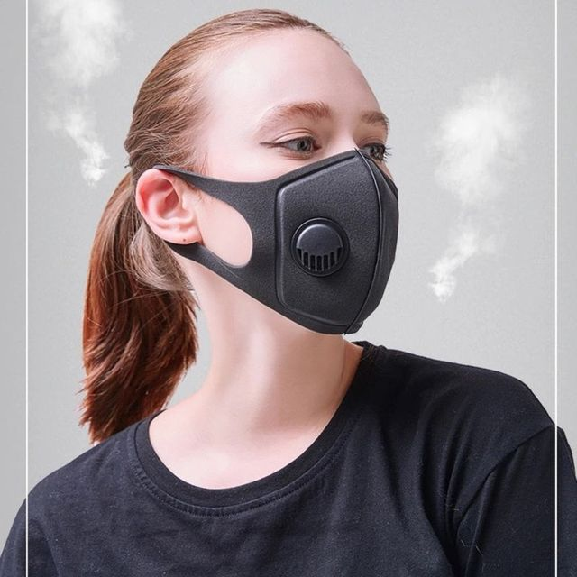 1pc PM2.5 Protective Face Mask Anti Dust Smoke Reusable Mask Breathable Unisex