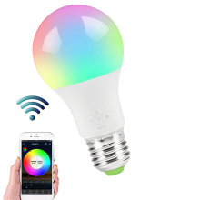 E27 Smart WIFI Bulb Dimmable Light LED Bulb Wake-Up Lights Music Smart Bulb Compatible with Alexa and Google Assistant Dropship