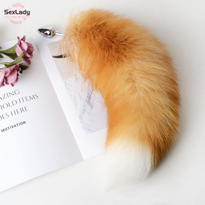 Separable Anal Plug Real Fox Tail Cosplay Butt Plug Anal Sex Tail Adult Products Anal Sex Toys for Woman Couples Men Sexy Shop(China)