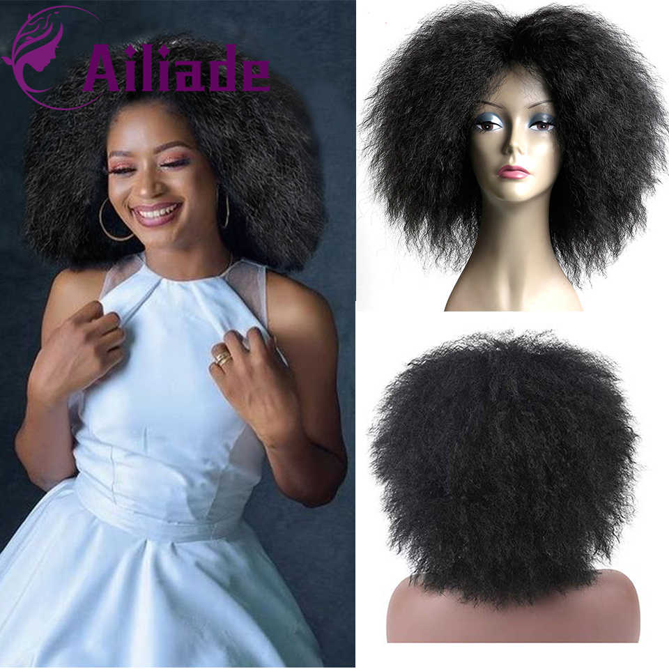 Ailiade Black Mixed Blonde Short Synthetic Hair Bob Kinky Curly Shoulder Length Wig African American Mid Point Wigs Synthetic None Lace Wigs Aliexpress