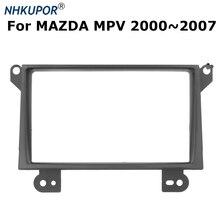 De reequipamiento de coche Radio Estéreo DVD Fascia Panel de salpicadero Kits de instalación para MAZDA MPV 2002 ~ 2007 doble 2 Din marco
