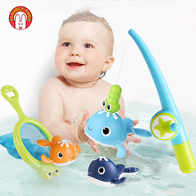 Fish Toy Magnetic Clockwork Whale Bath Tubs Float Baby Swimming Pool Water Game Kids Summer Bathroom Toys For Children Boy Girl