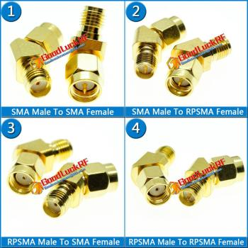 SMA To RP SMA Cable Connector Socket SMA Male To RP SMA Male Female 45 135 Degree Oblique Angle Gold Brass Coaxial RF Adapters sale 10 pcs adapter rp sma male jack to rp sma female connector straight gold plating high quality minijack plug wire connector