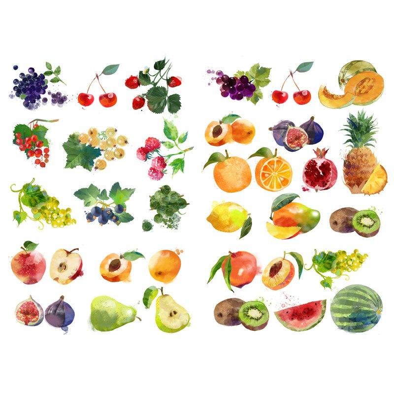 30pcs//set Kawaii Fresh Fruit Decor Diary Planner Scrapbooking Calendar Stickers