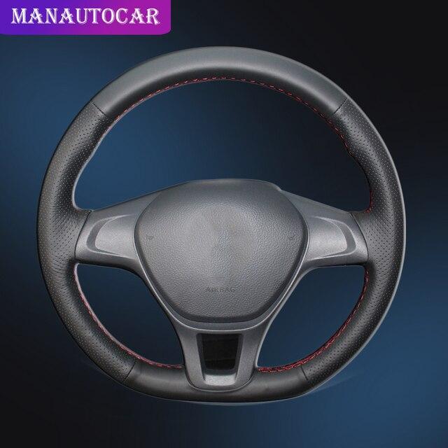 Auto Treccia Su Il Coperchio del Volante per Volkswagen VW Golf 7 Mk7 Nuovo Polo 2014 2015 2016 2017 senza in Pelle originale Coperture