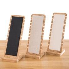 12 Bit bambu takı koleksiyonu ekran kolye küpe bilezikler yüzükler depolama ekran braketi tutucu vitrin organizatör