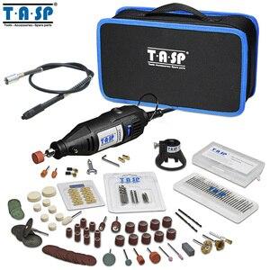 Image 1 - 220V 130W Elektrische Mini Handboor Grinder Rotary Tool Bag Kit Dremel Stijl Boren Polijsten Snijden Schuren Accessoires set
