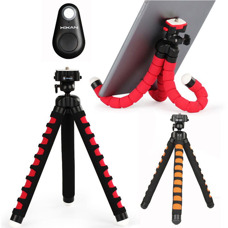 Fotopro portable phone Octopus Tripod With Bluetooth Remote universal bracket Sticks micro single tripods Support <font><b>Frame</b></font> Stands image