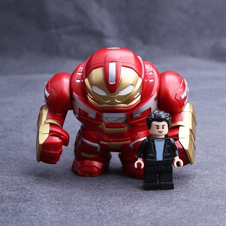Single Super Hero Iron Man Tony Stark Infinity Gauntlet Korg Hulk Figure Avengers Building Blocks Model Bricks Toys Legoing