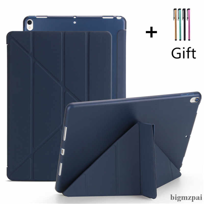 "TPU Case for iPad Pro 10.5"" Air 3 2019 Protective Stand Cover Magnet Case For iPad 9.7 Case 2017 2018 5th 6th Tablet Cover+Pen"