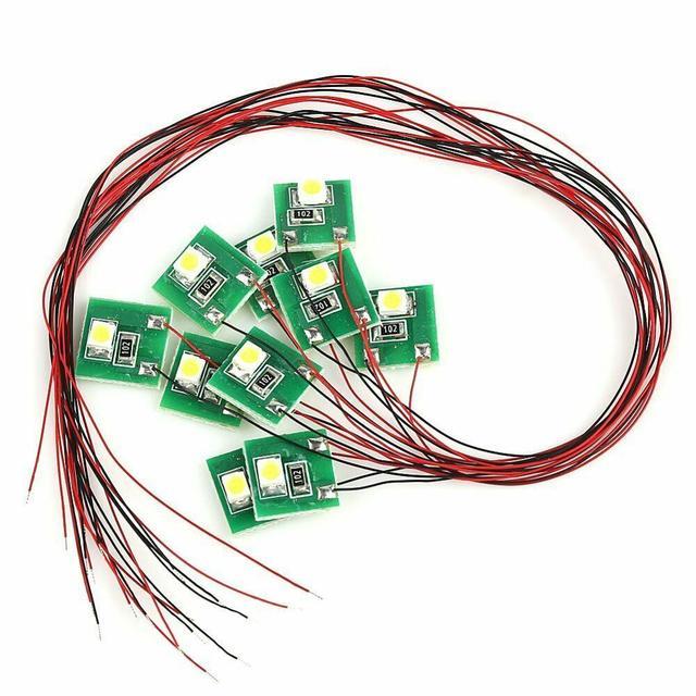 DD00W 10pcs Pre Wired Bright White SMD 3528 Led Lamp Light Set 12V ~ 18V NEW 5