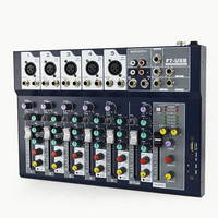 7 Channel DJ Equipment Digital USB Cable Professional Stage Performance Audio Mixer Sound Board Console Mixing Controller
