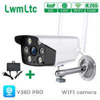 Cámara de vigilancia IP V380 PRO WIFI inalámbrica, 1080P, 4mp, HD, Audio bidireccional, aplicación de seguridad, Control de visión nocturna