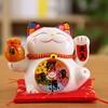 5 inch Maneki Neko Lucky Cat Ornament Ceramic Fortune Cat Statue Home Decorative Gift Feng Shui Beckoning Cat Piggy Bank 6