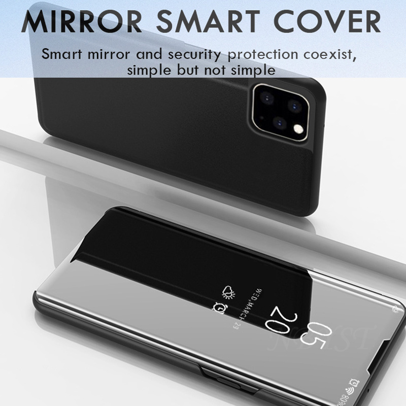 Mirror Flip Phone Case For Iphone 12 Mini Se 2020 Clear View Leather Case On Iphone 12 Pro Max Xr Xs Max 6s 7 8 Plus Cover Shell Flip Cases Aliexpress