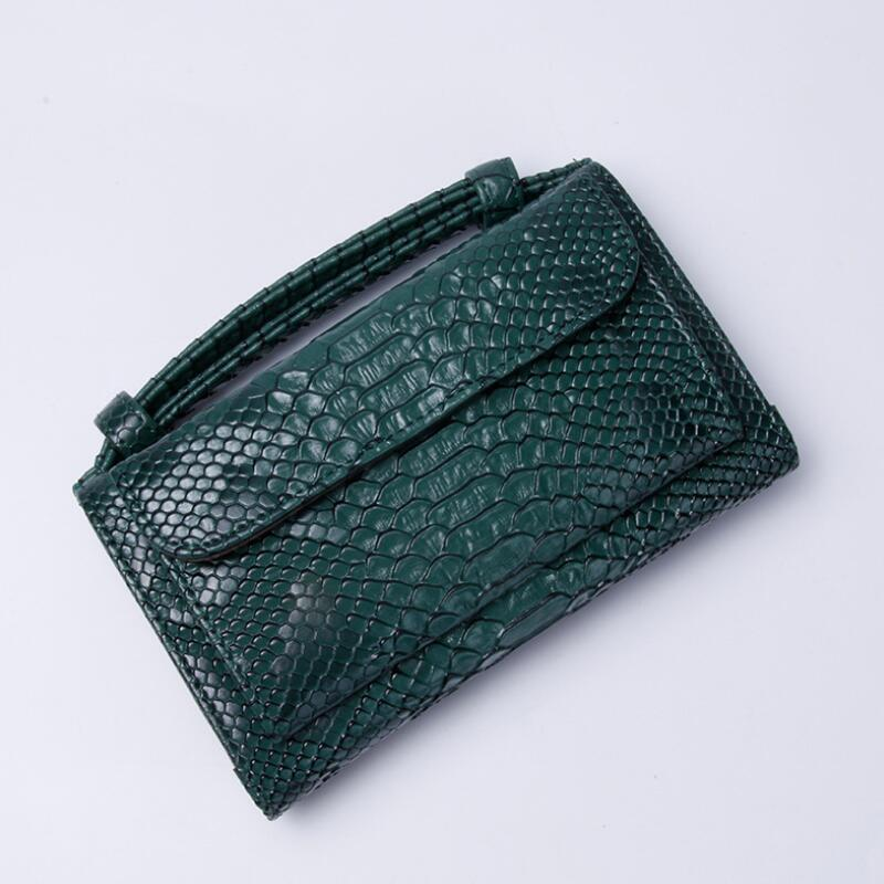Factory Outlet!Saudi Arabian Style Luxury Genuine Leather Clutch Small Shoulder Bags Crocodile Pattern Crossbody Bag For Women