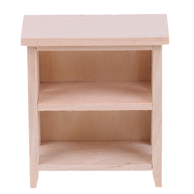1/12 Dollhouse Miniature Unpainted Lockers Storage Rack Model DIY Furniture Toys Accessories