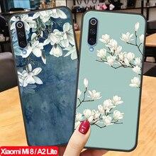 ALLOPUT 3D Emboss Matte Phone Case MiA2 Xiaomi Mi 8 A2 Lite Cases Mi8 Silicone Cover mi Original
