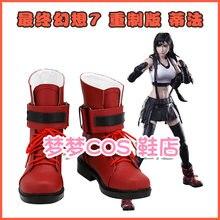 Новая ремейка последней фантазии vii красная обувь для косплея