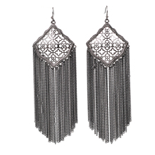 2019 Summer New Arrival Chain Tassel Kite Drop Earrings Silver Gold Tone Boho Dangle